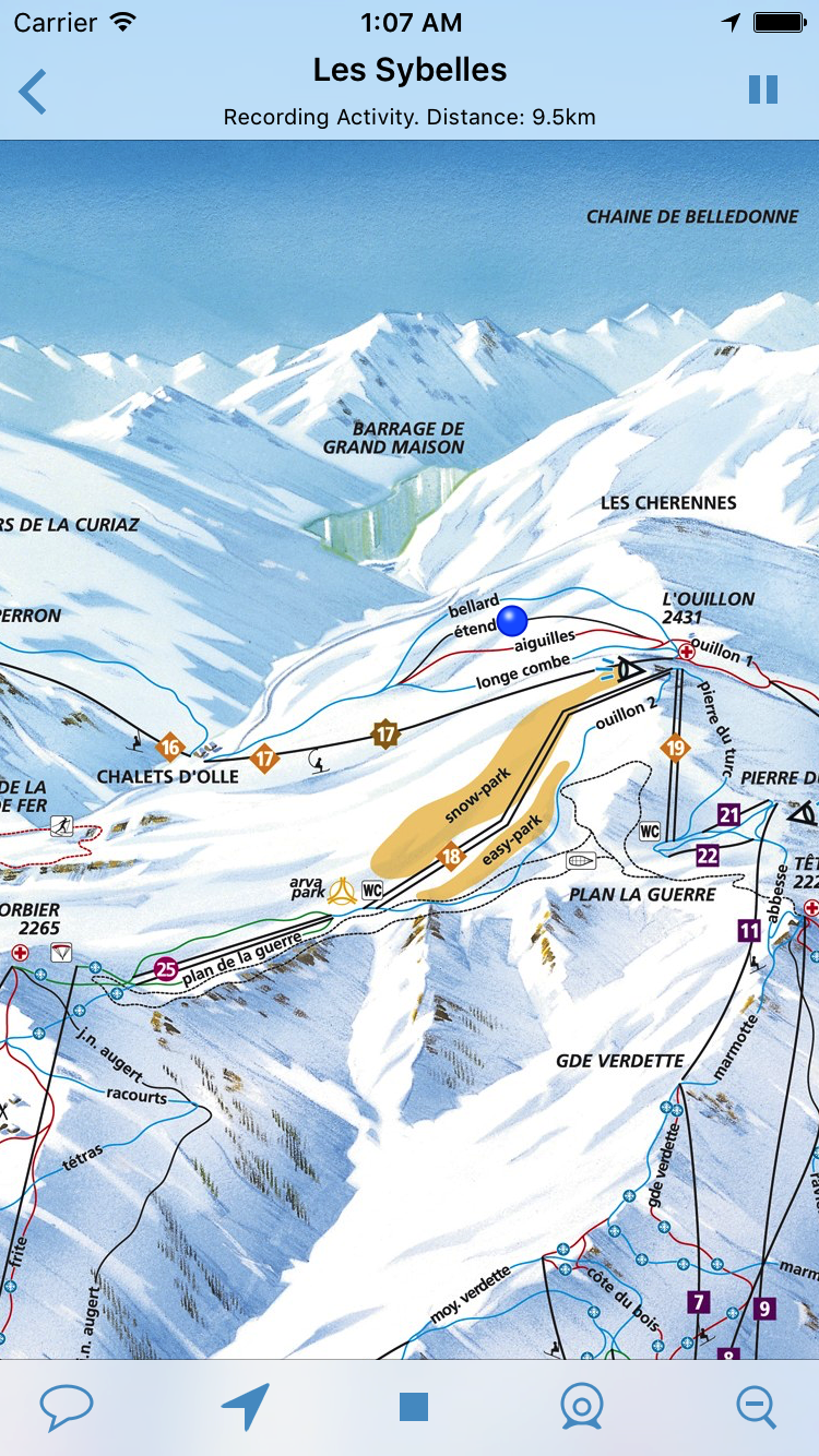 SkiMaps download trail maps to your iPhone for offline use find